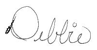 Signed Debbie